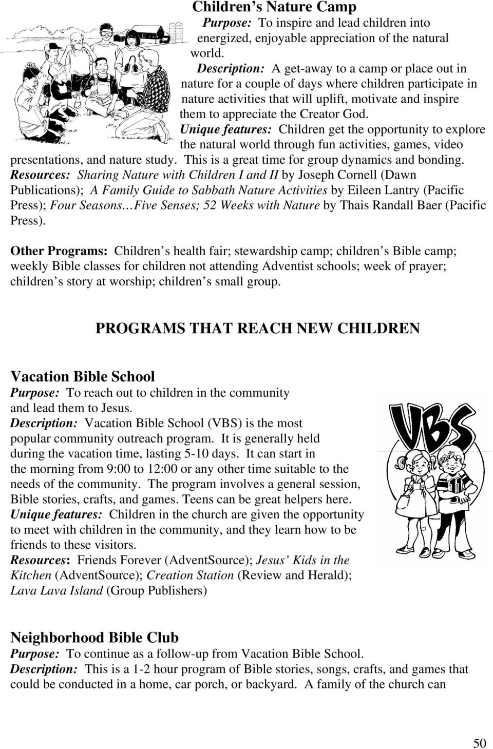 Chapter 13 PROGRAMS THAT REACH CHILDREN WITHIN THE CHURCH - PDF