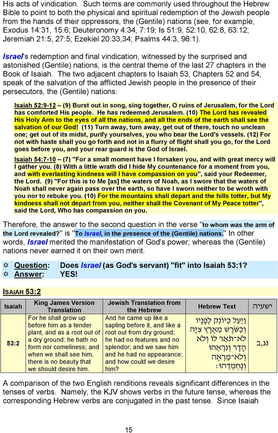 WHO IS THE SUFFERING SERVANT IN ISAIAH 53? PART I - THE