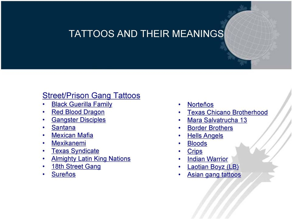 Tattoos and Their Meanings Presented by the Canada Border