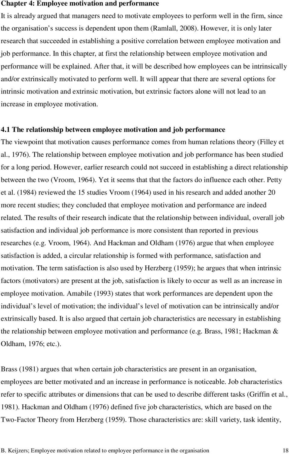 relationship between motivation and employee performance