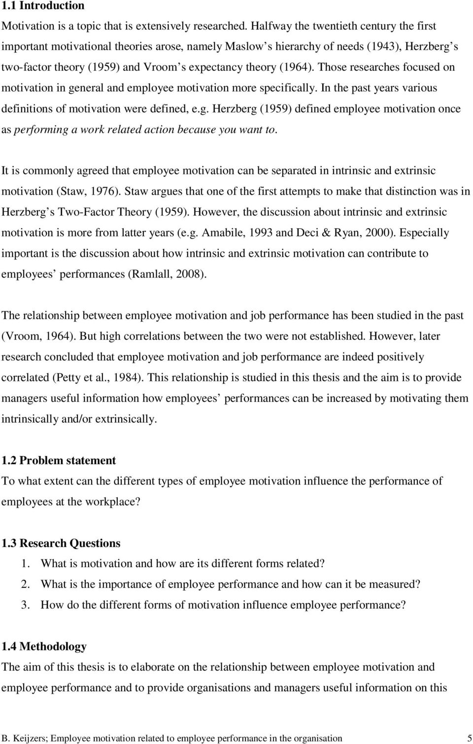 Bachelor Thesis: Employee Motivation and Performance - PDF