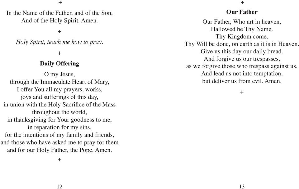 Treasure in Heaven  A 40-Day, Ten minutes a day prayer guide  Fr