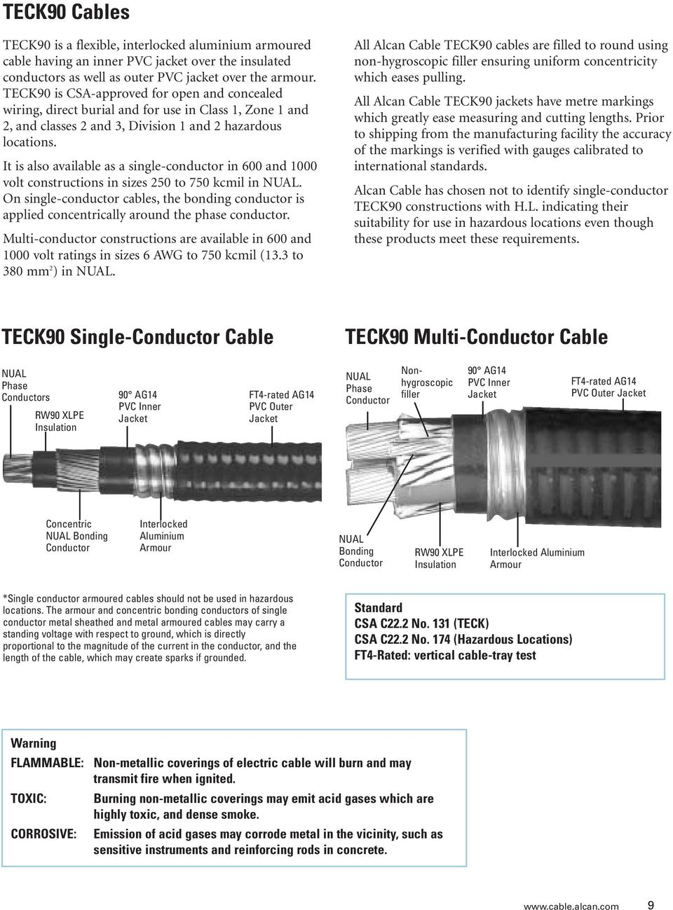 Alcan cable armoured cable canadian product catalogue grounded in it is also available as a single conductor in 600 and 1000 volt constructions in keyboard keysfo Choice Image