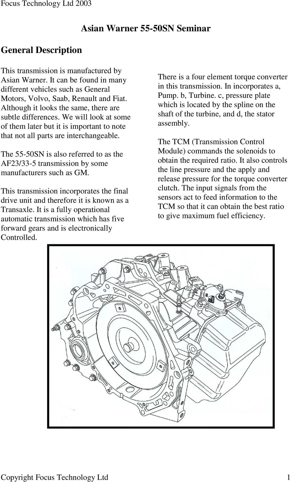 Asian Warner 55 50sn Seminar Pdf Renault Transmission Diagrams The Is Also Referred To As Af23 33 5