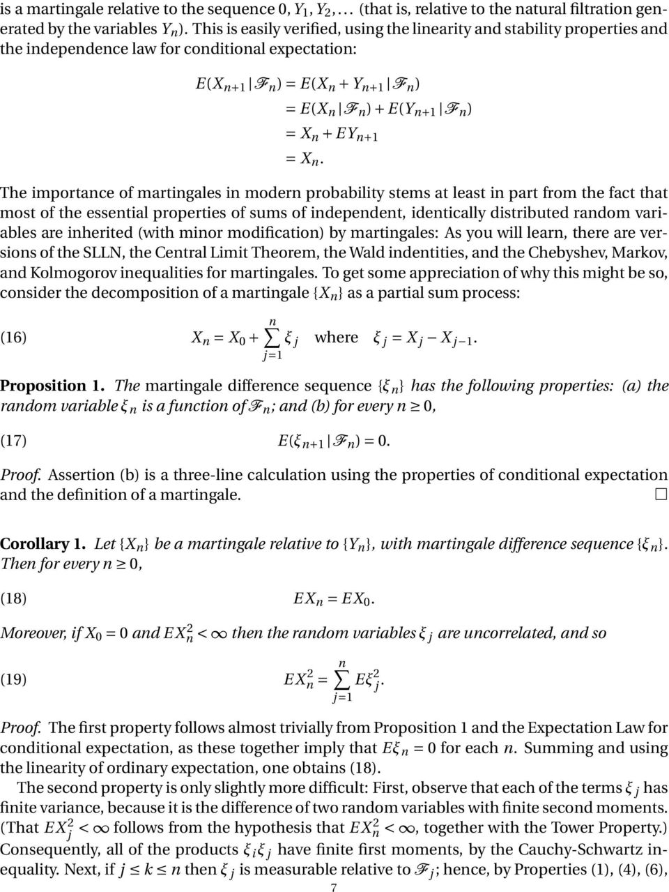 CONDITIONAL EXPECTATION AND MARTINGALES - PDF