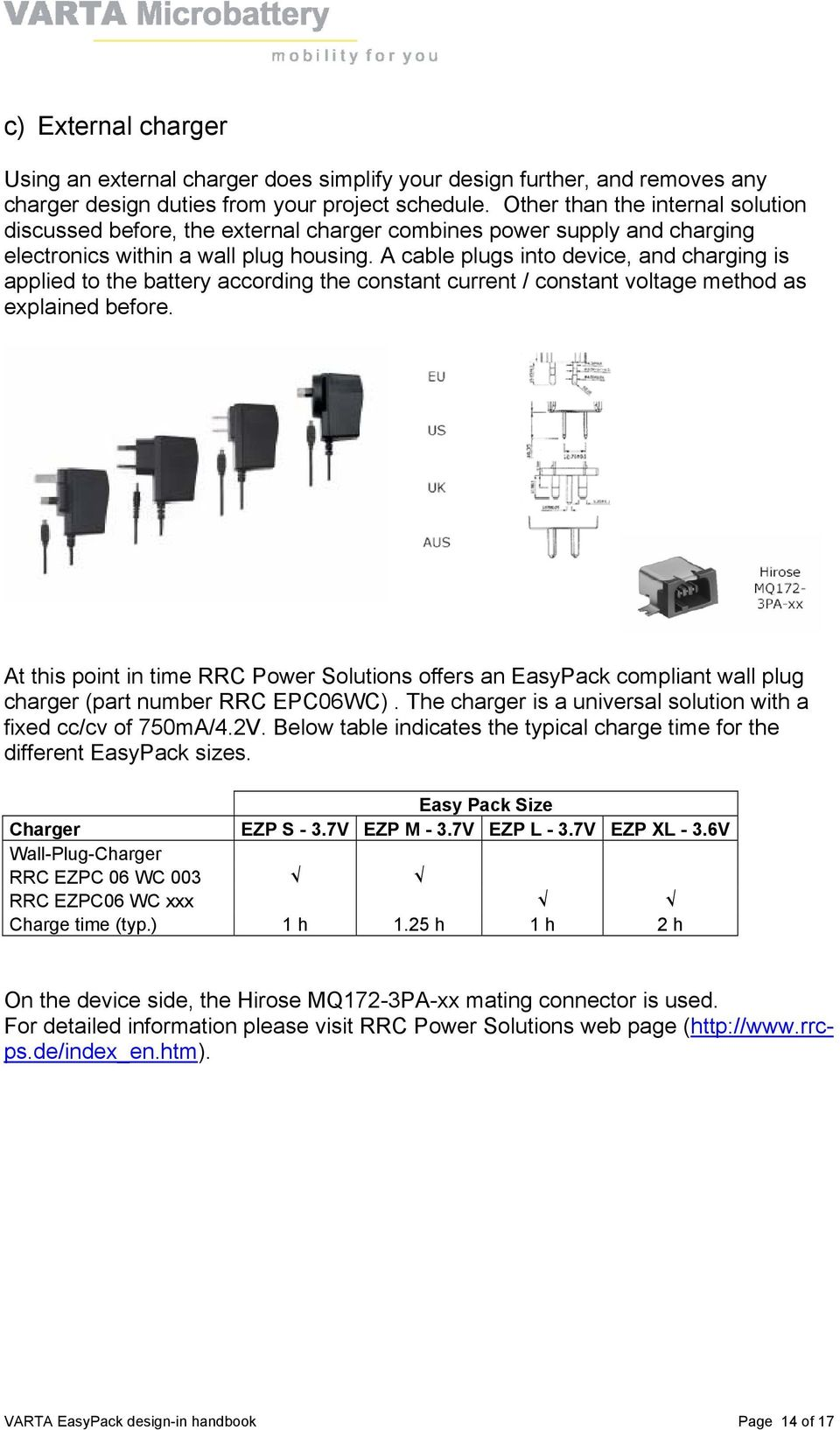 Varta Easypack Design In Handbook The Easy Way To Lithium Polymer Simple Lead Acid Battery Charger With Pb137 Regulator Circuit A Cable Plugs Into Device And Charging Is Applied According Constant