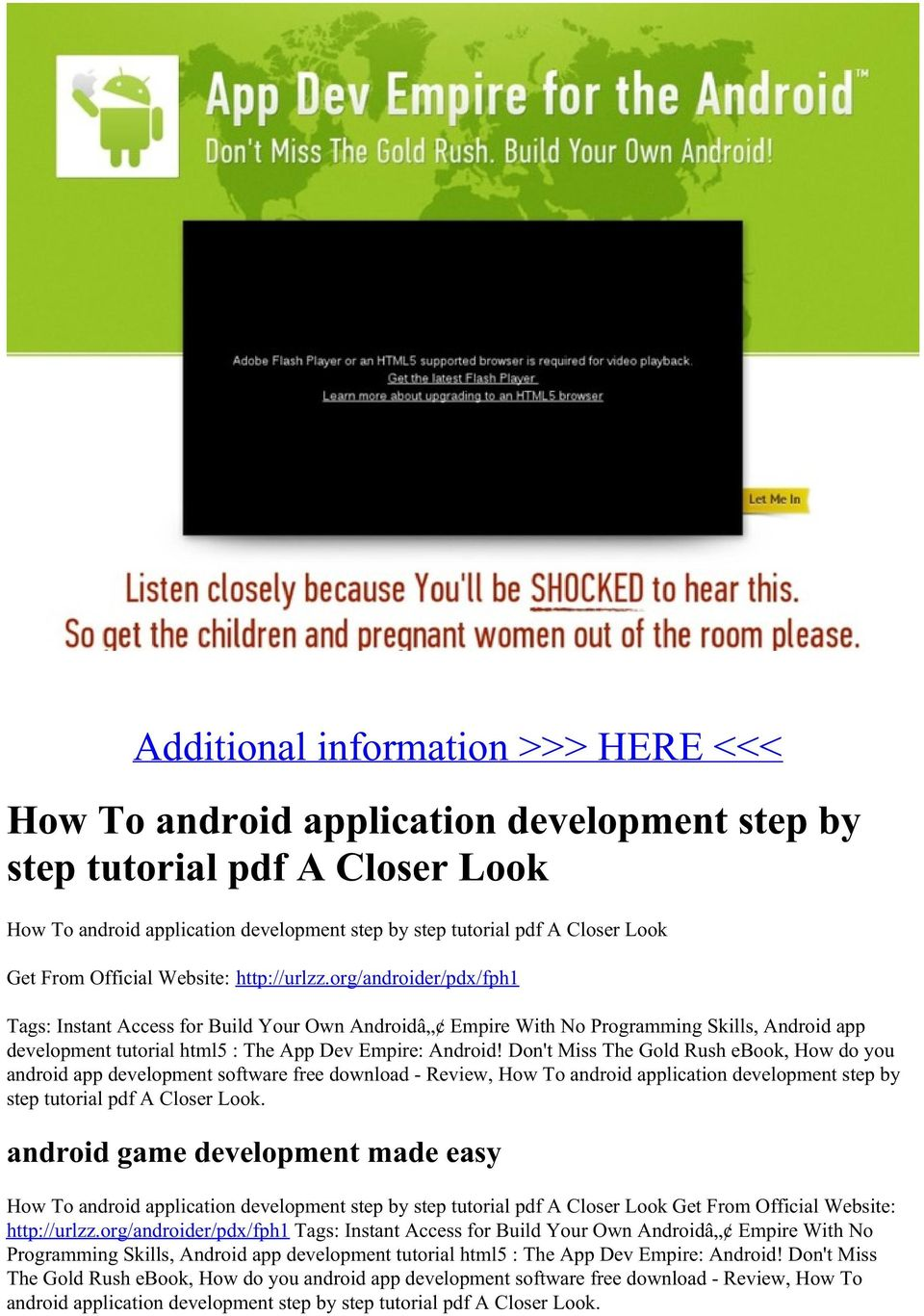 Android tutorials pdf free download.