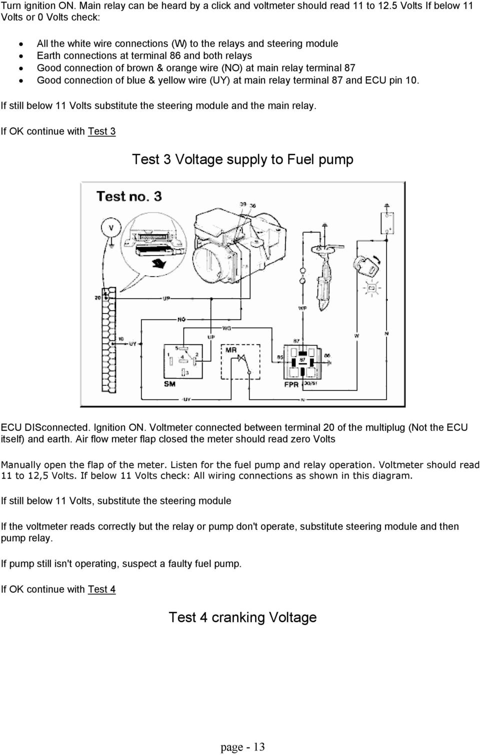 The Wedge Epistles Gerry Attrick Compiled By March Page Pdf Rover Sd1 Ignition Wiring Diagram Wire No At Main Relay Terminal 87 Good Connection Of Blue Yellow
