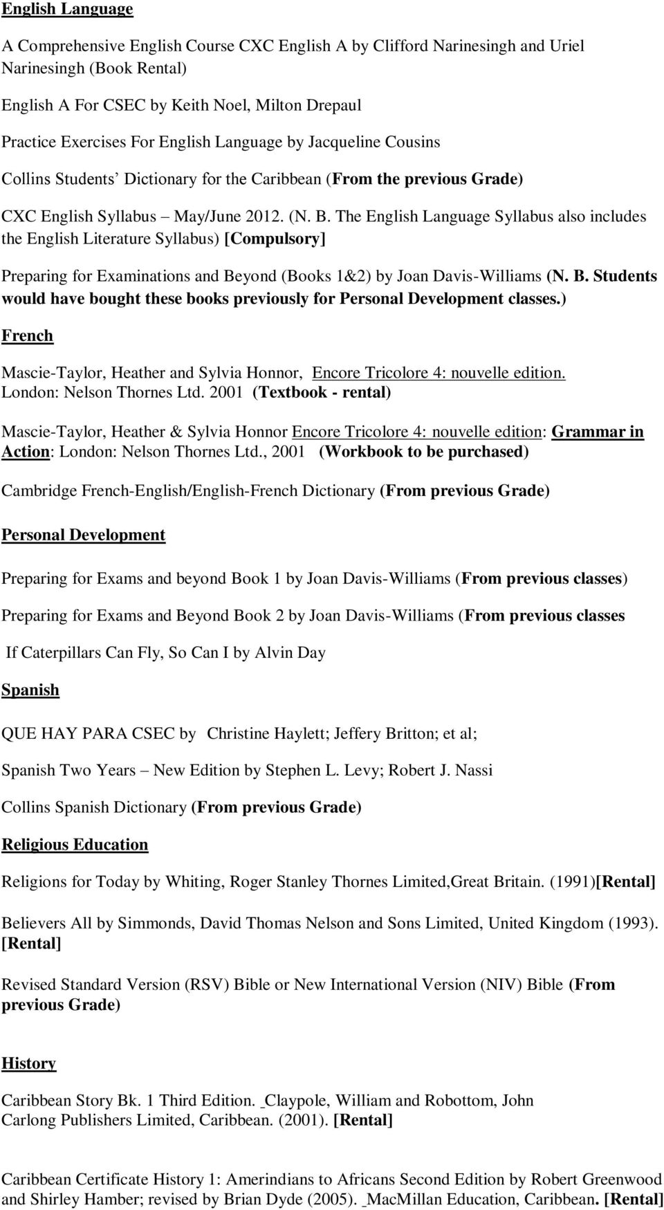 Ardenne high school grade 10 booklist pdf the english language syllabus also includes the english literature syllabus compulsory preparing for fandeluxe Choice Image
