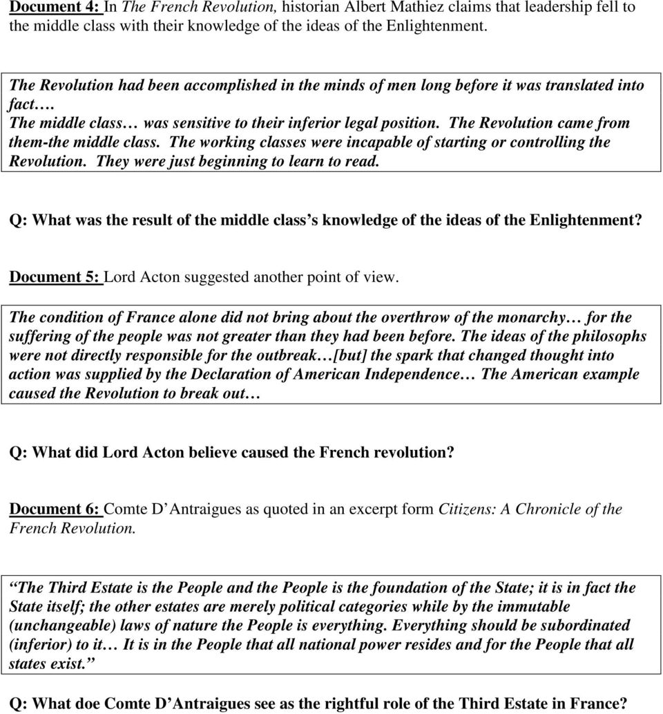 dbq 3 what caused the american revolution answers