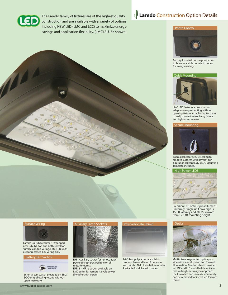Laredo Decorative Wallpack Family Pdf Option 4 Fixture Between Two Switches Power Through Light Quick Mounting Lmc Led Features A Mount Adapter Easy Without Opening Attach
