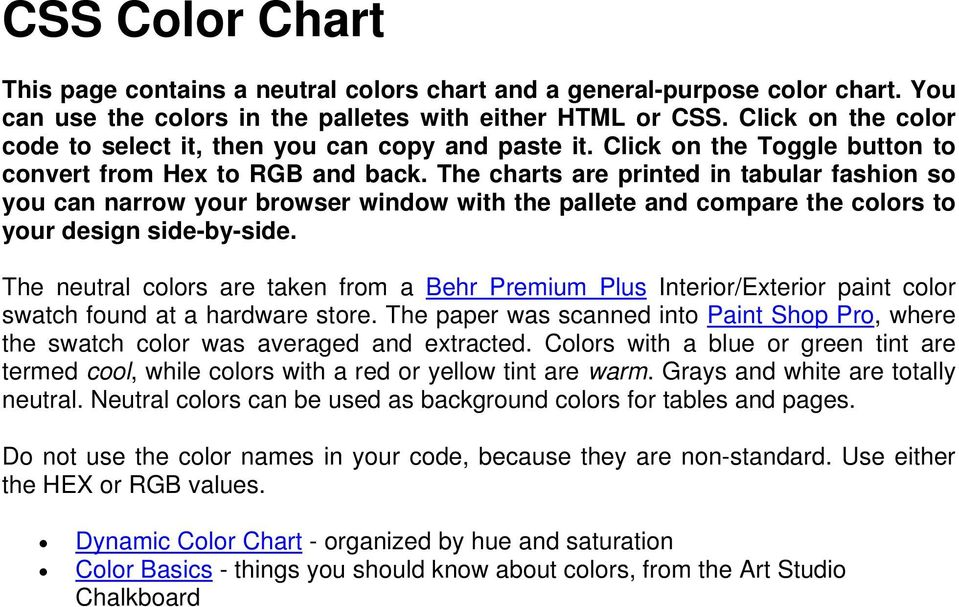 Do Not Use The Color Names In Your Code Because They Are Non