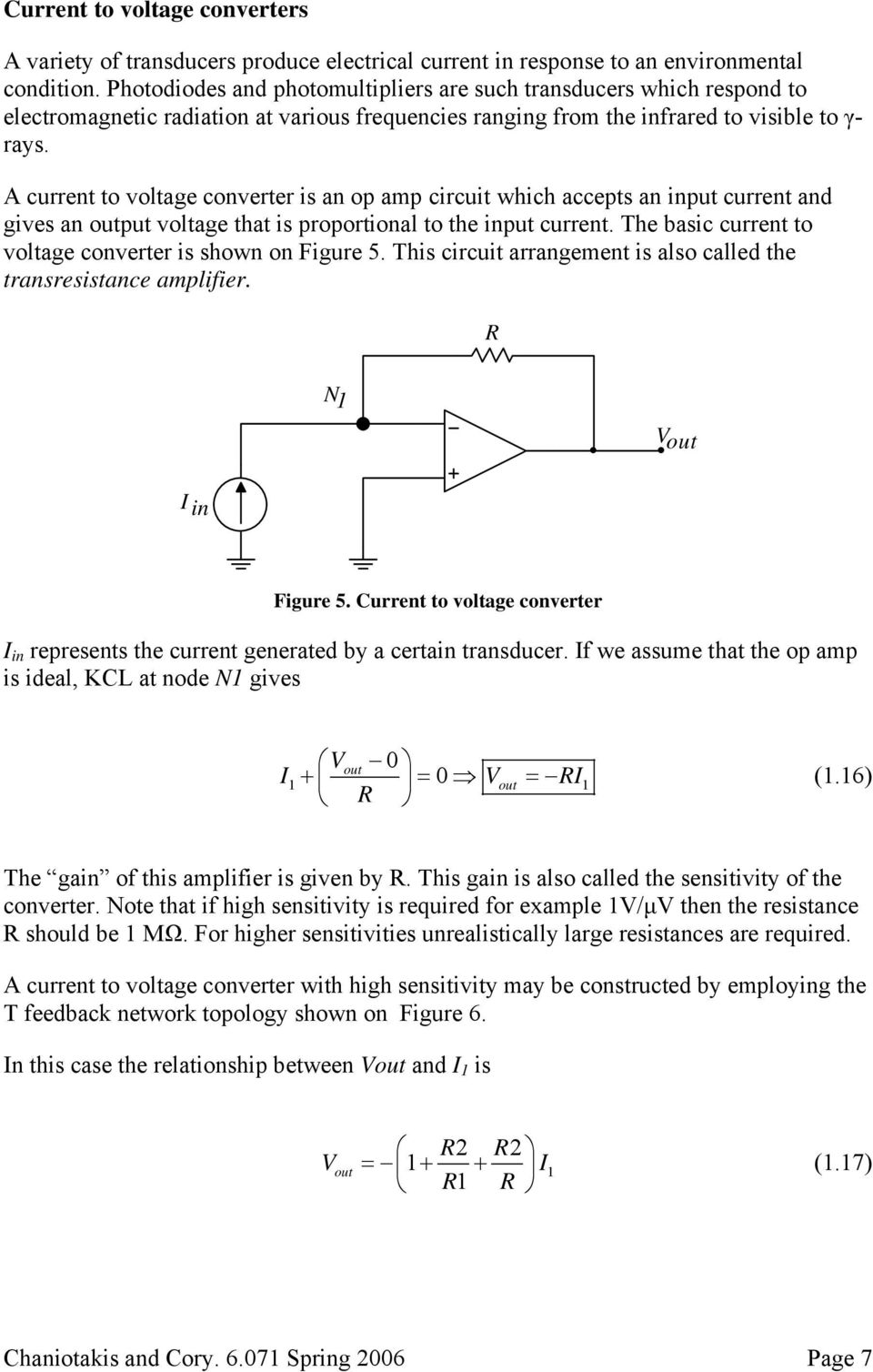 Operational Amplifier Circuits Pdf Current Circuit A To Voltage Converter Is An Op Amp Which Accepts Input And