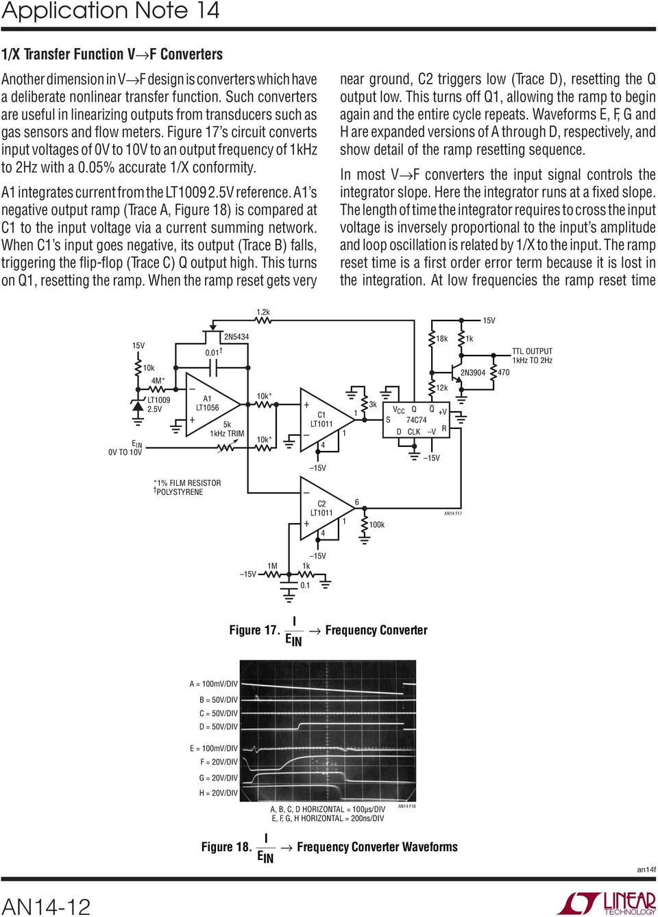 Designs For High Performance Voltage To Frequency Converters Pdf National Lm555 Datasheet Replacement Se555 Ne555 Series And The Connection Diagram Figure 7 S Circuit Converts Input Voltages Of 0v An Output
