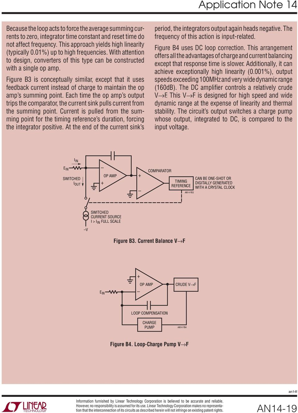 Designs For High Performance Voltage To Frequency Converters Pdf National Lm555 Datasheet Replacement Se555 Ne555 Series And The Connection Diagram Figure B3 Is Conceptually Similar Except That It Uses Feedback Current Instead Of Charge