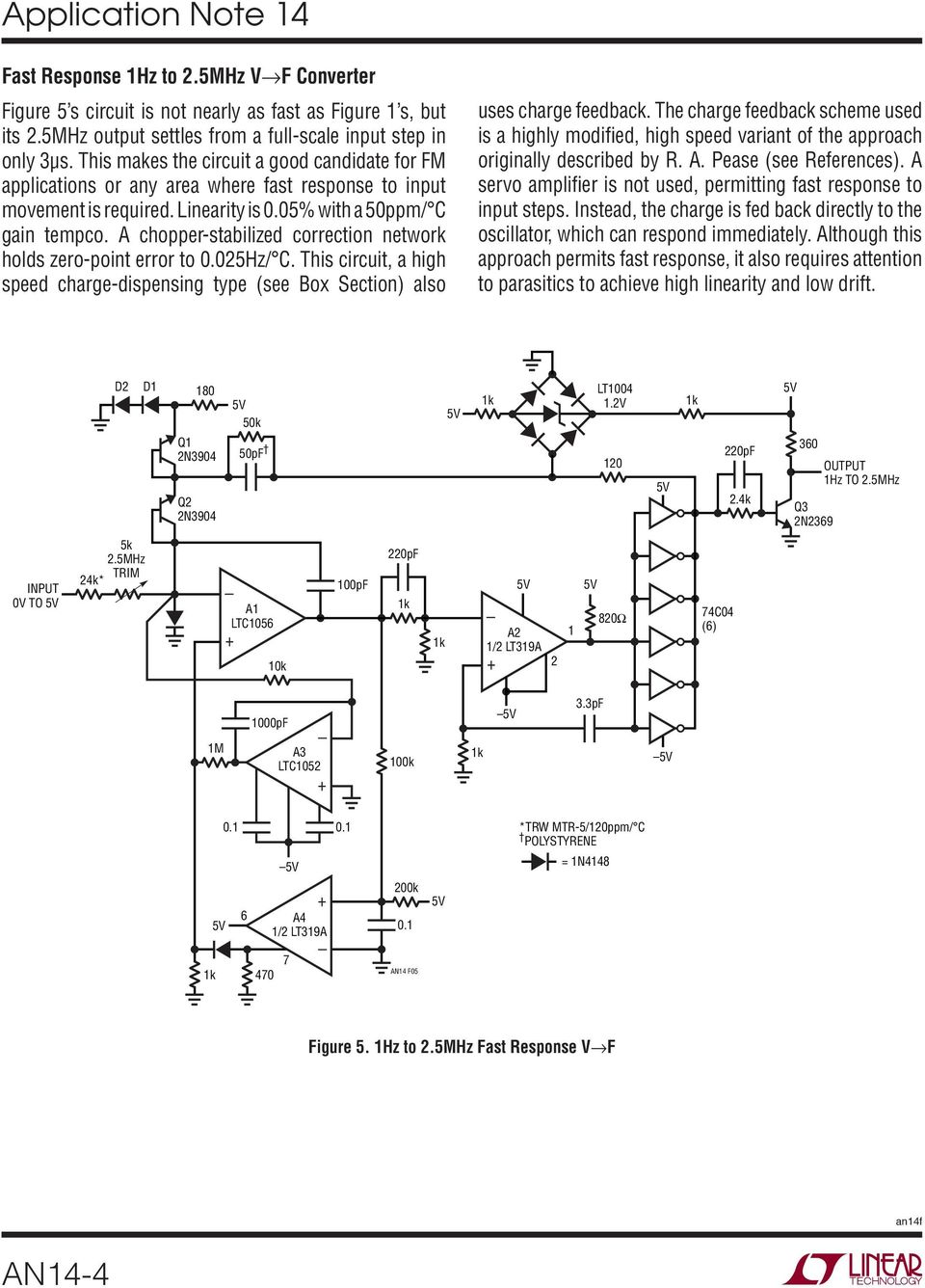 Designs For High Performance Voltage To Frequency Converters Pdf Quartz Crystal Sine Wave Oscillator Circuit Basiccircuit A Chopper Stabilized Correction Network Holds Zero Point Error 0025hz C