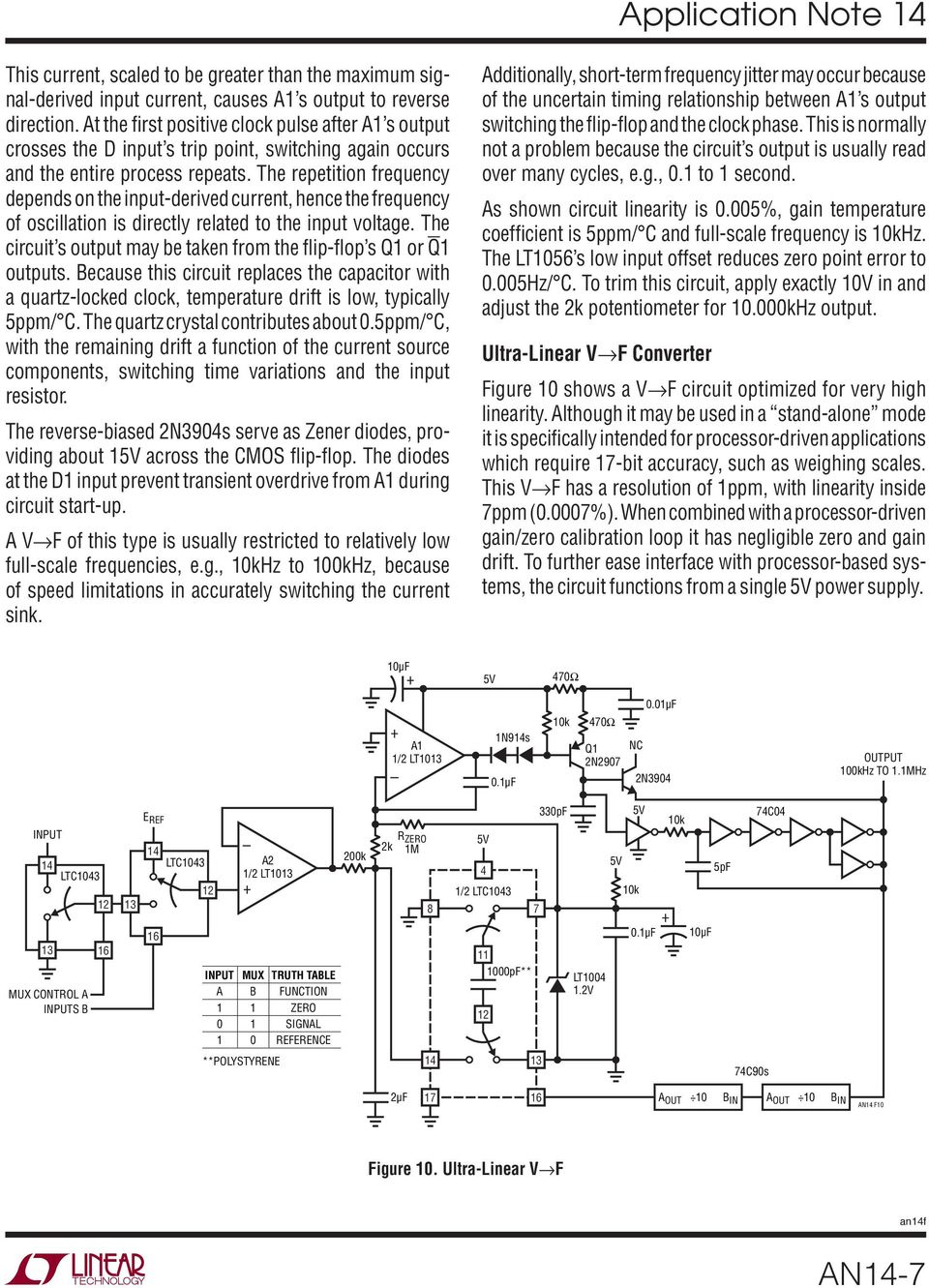Designs For High Performance Voltage To Frequency Converters Pdf Quartz Crystal Sine Wave Oscillator Circuit Basiccircuit The Repetition Depends On Input Derived Current Hence Of Oscillation 8