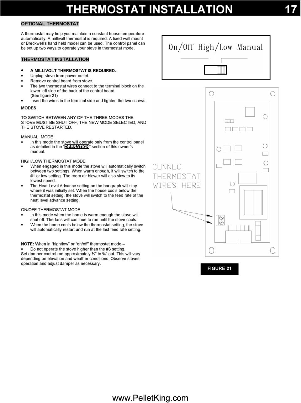 Luxury Series P2000 Owner S Manual Pdf National Brand Alternative Thermostat Wire 20 Gauge 2 500 Ft The Two Wires Connect To Terminal Block On