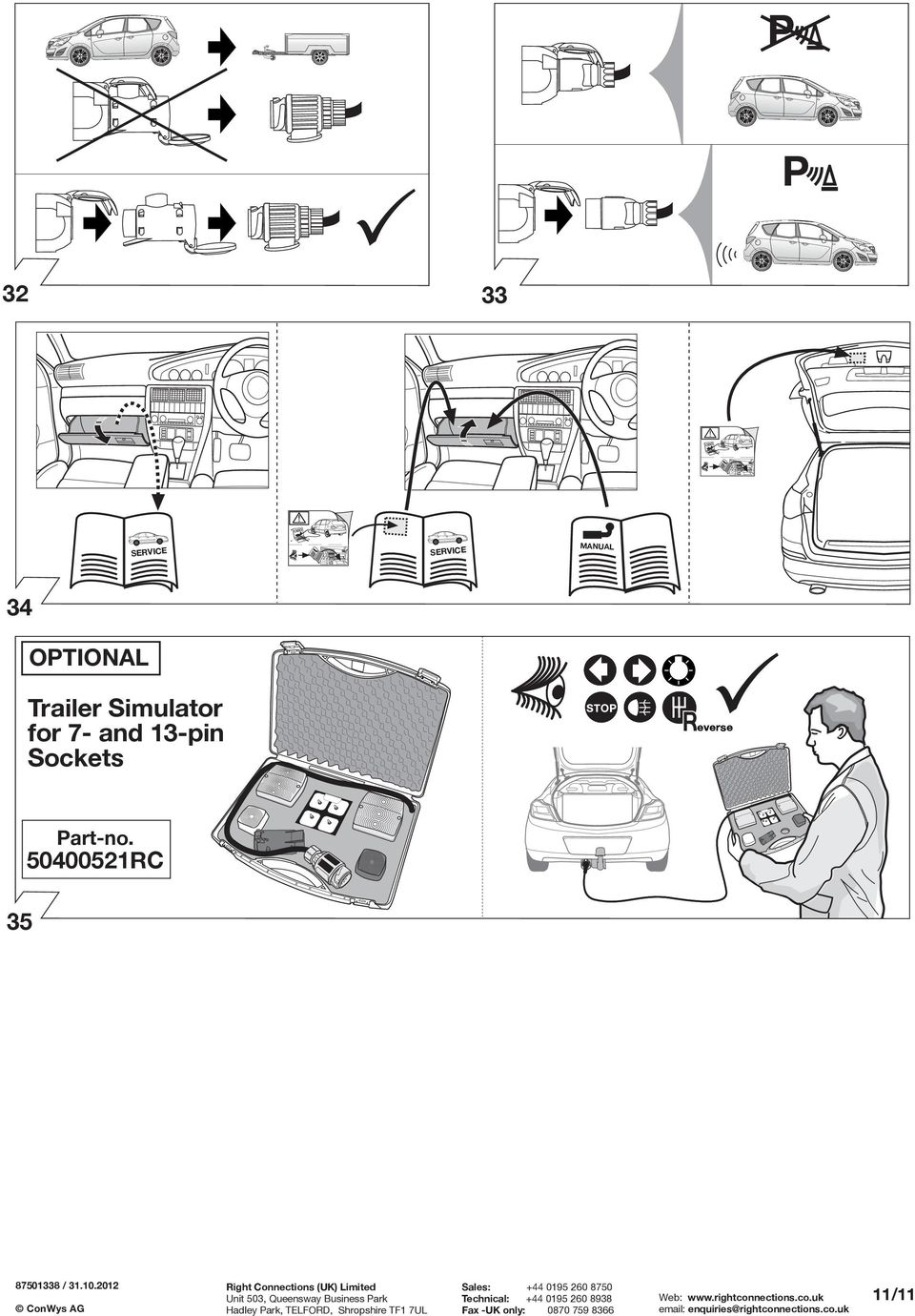 Fitting Instructions Part No Rc Vauxhall Meriva B 06 10 Important Wiring Diagram For 2004 Audi A4 Quattro Together With Towbar 50400521rc Dauerstrom Ladeleitung Ermanent Power