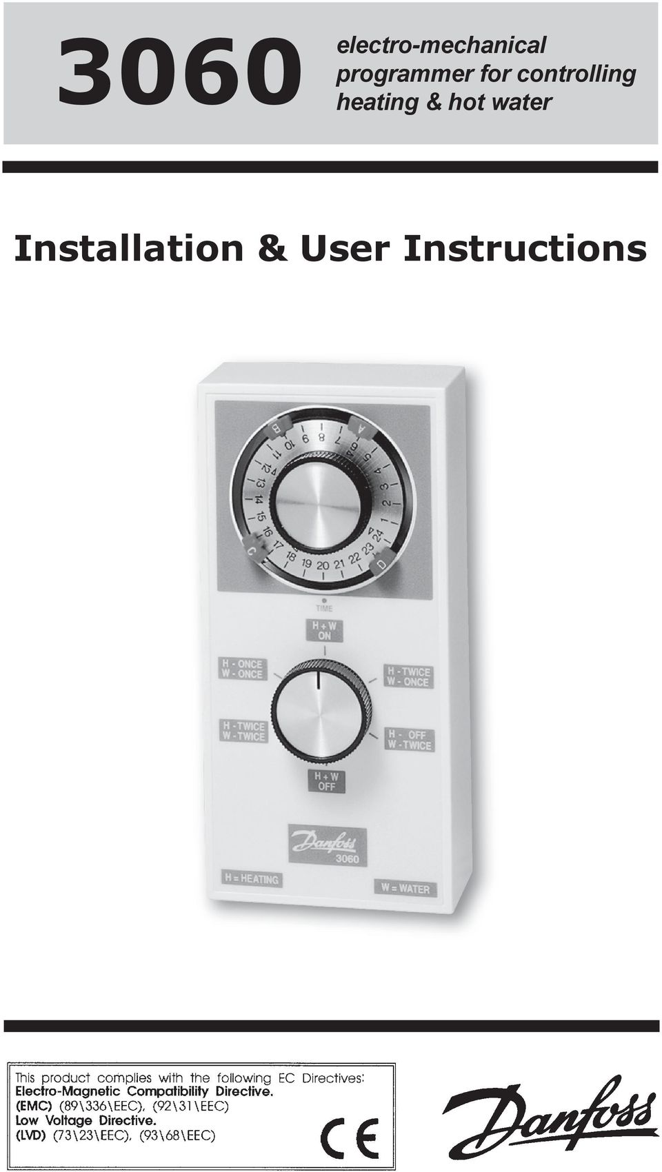 electro-mechanical programmer for controlling heating & hot ... on