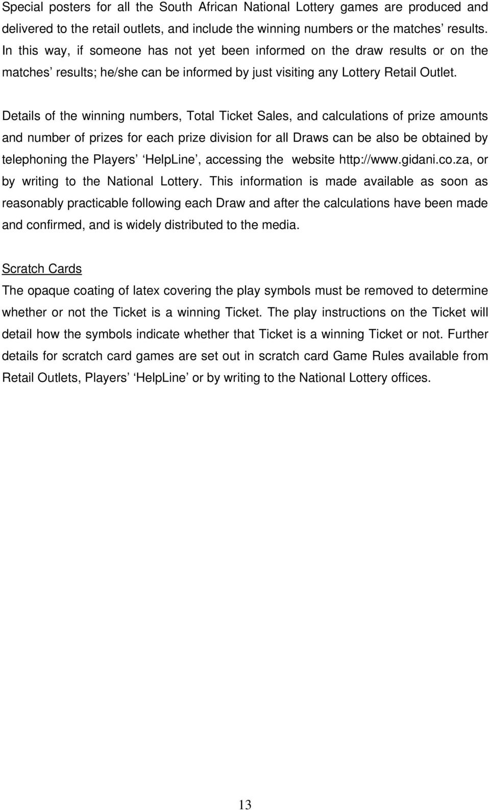 NATIONAL LOTTERY PARTICIPANTS CODE OF PRACTICE - PDF