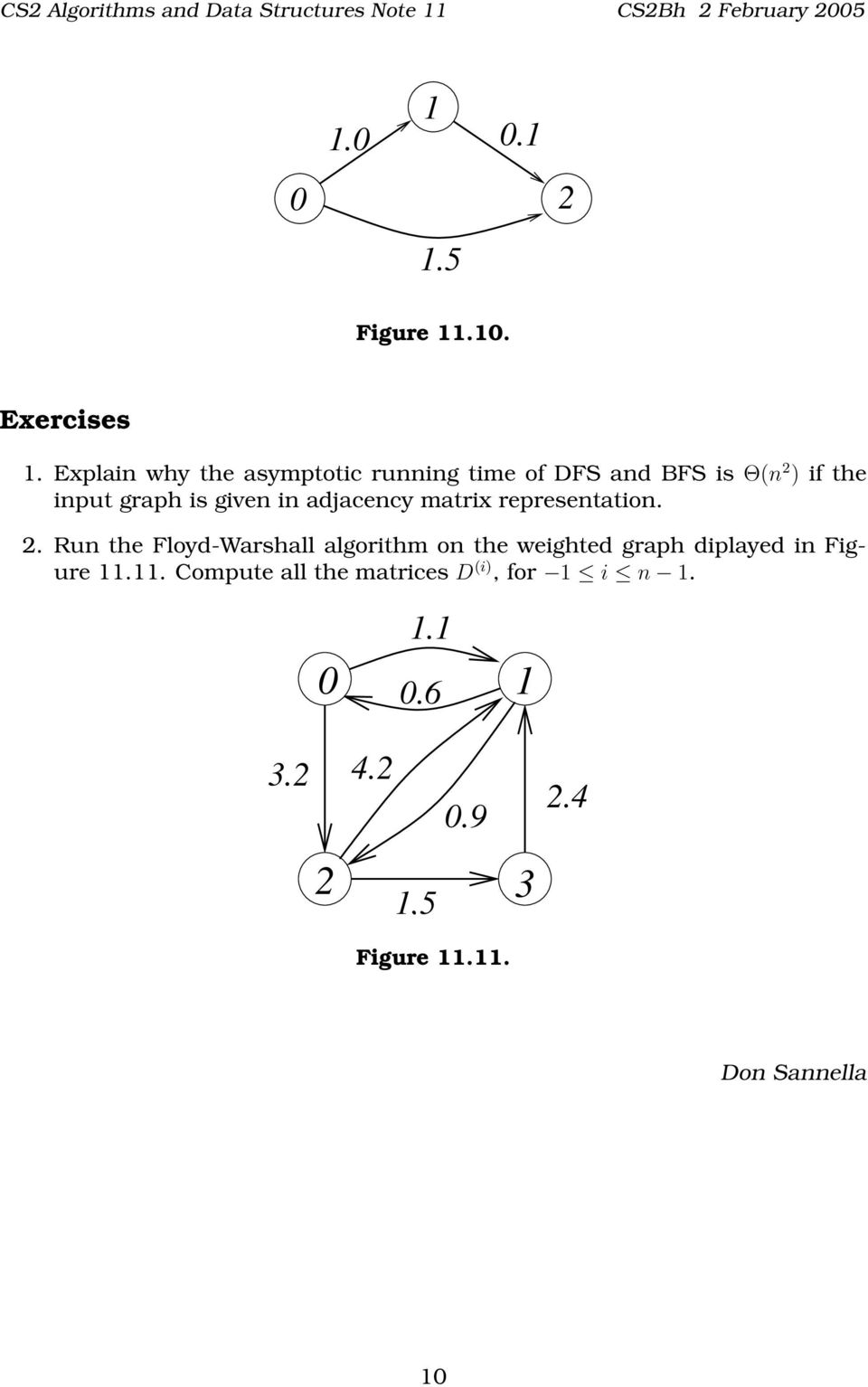 CS2 Algorithms and Data Structures Note 11  Breadth-First