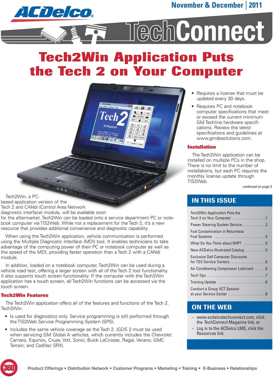 Tech2Win Application Puts the Tech 2 on Your Computer - PDF