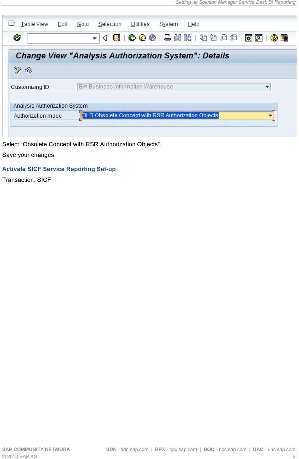 Setting up Solution Manager Service Desk BI Reporting - PDF