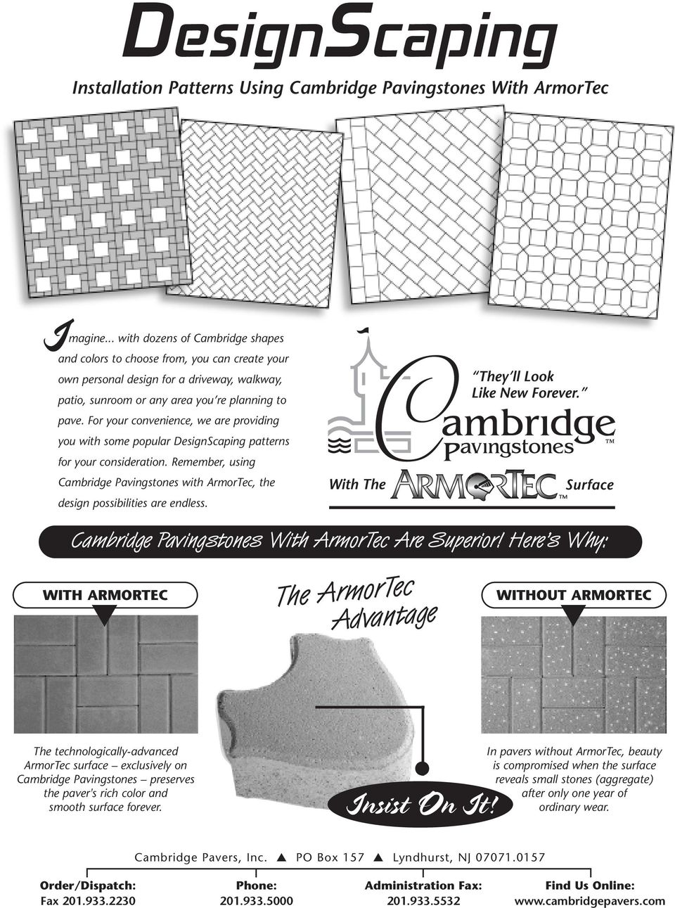 Installation Patterns Using Cambridge Pavingstones With ArmorTec