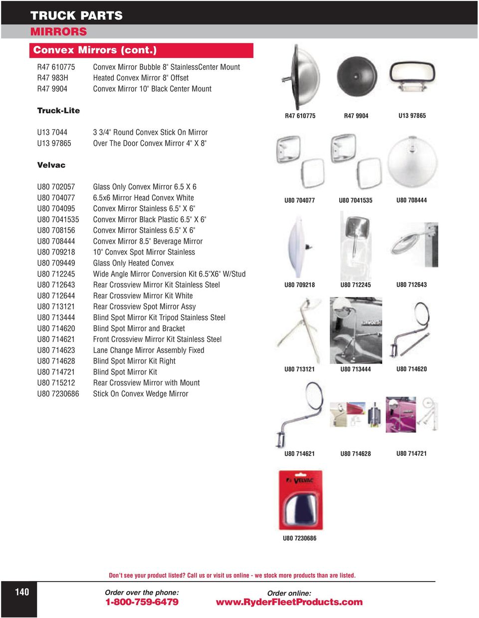 Truck Parts Mirrors Convex Grote Pdf Wiring Diagram Heated Mirror U13 97865 Over The Door 4 X 8 R47 610775