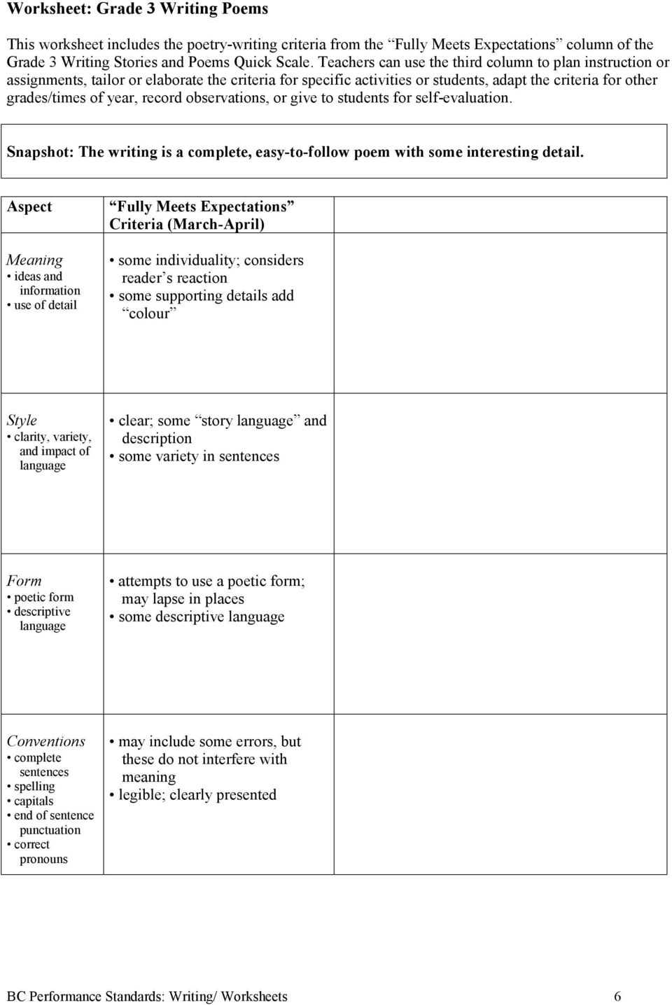 Worksheet Grade 1 Writing From Experience Pdf