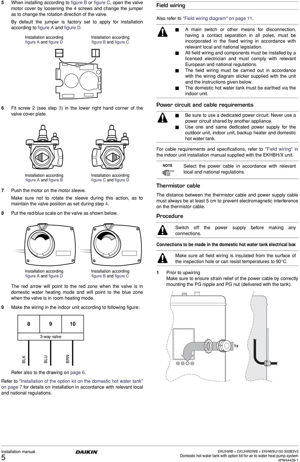 installation manual  domestic hot water tank with option kit for air to water heat pump system