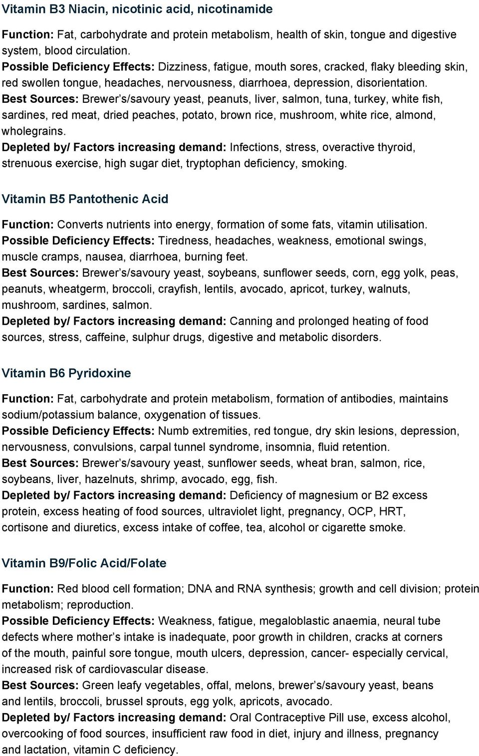 Vitamin and Mineral Assessment - PDF