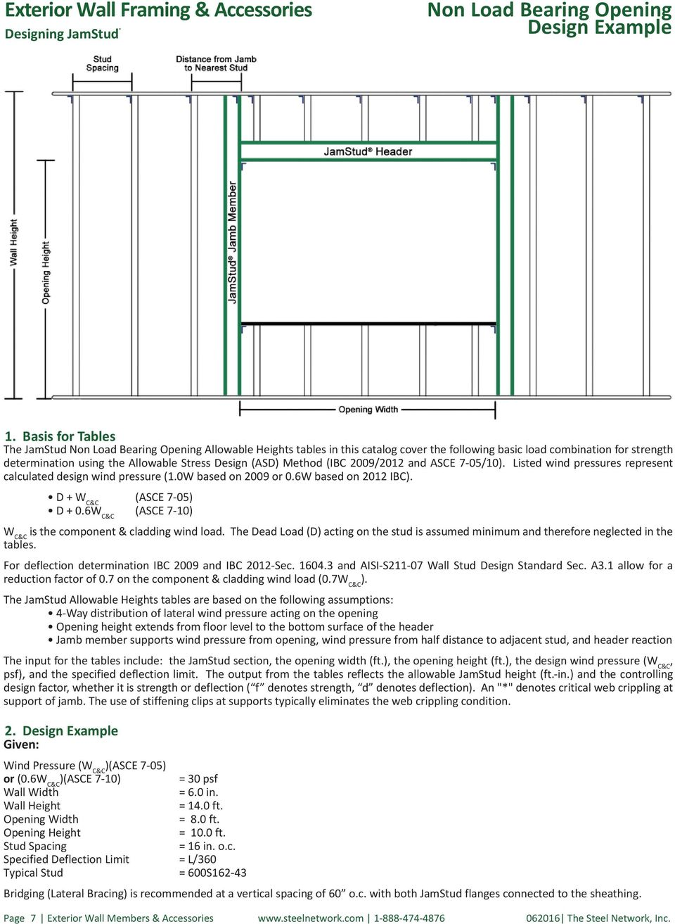 1 Exterior Wall Members & Accessories - PDF