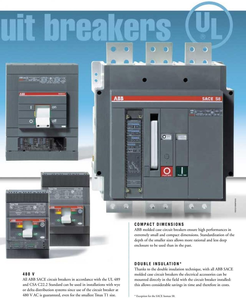 Abb Sace Molded Case Circuit Breakers Pdf Faz Miniature Standard Can Be Used In Installations With Wye Or Delta Distribution Systems Since Use Of The
