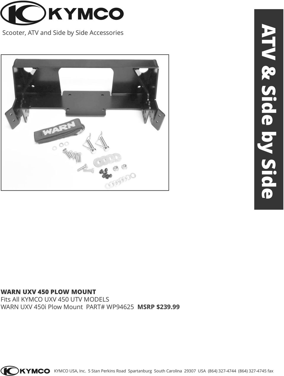 KYMCO OFF ROAD Accessories - PDF