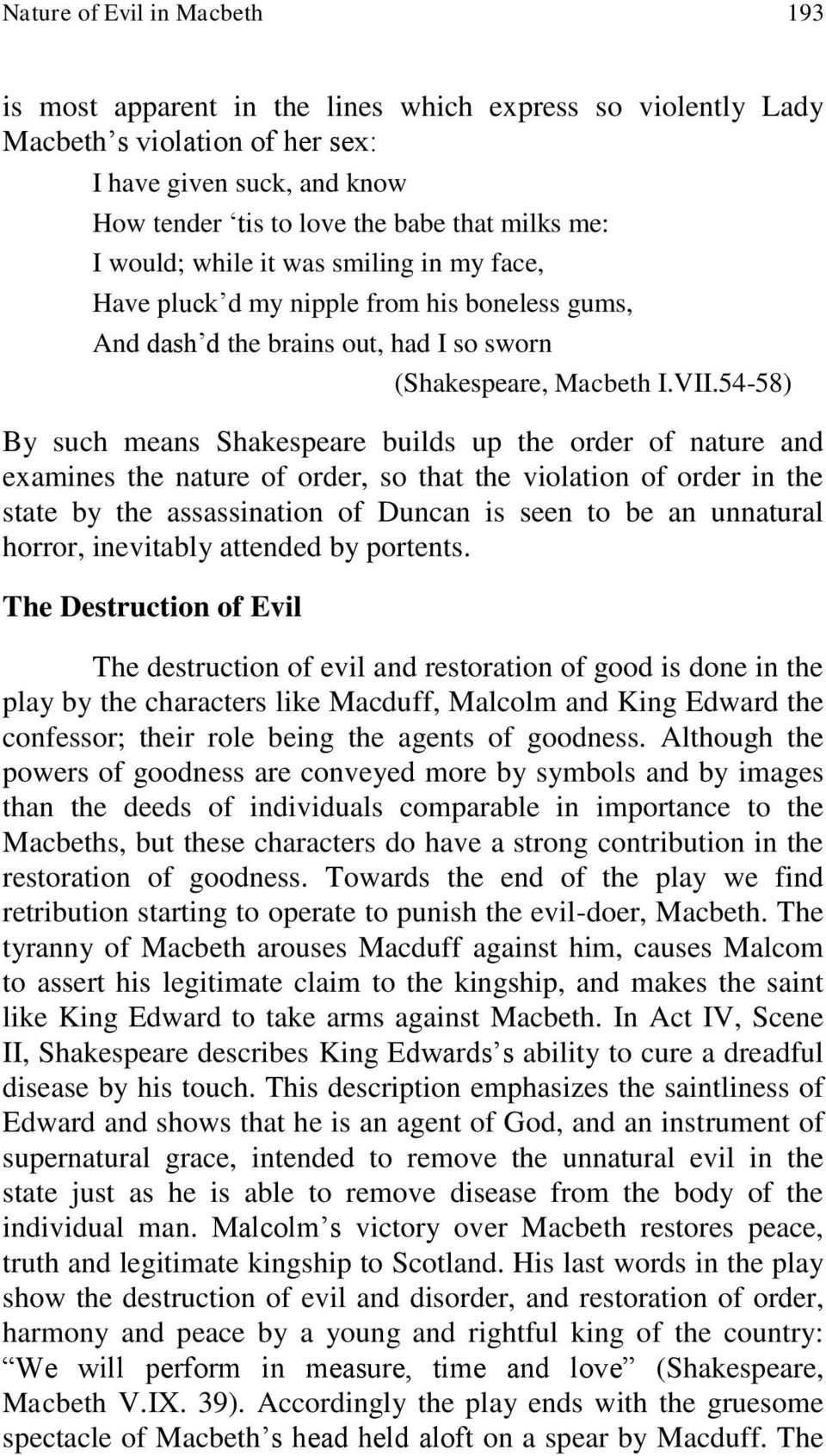 the nature of evil in macbeth