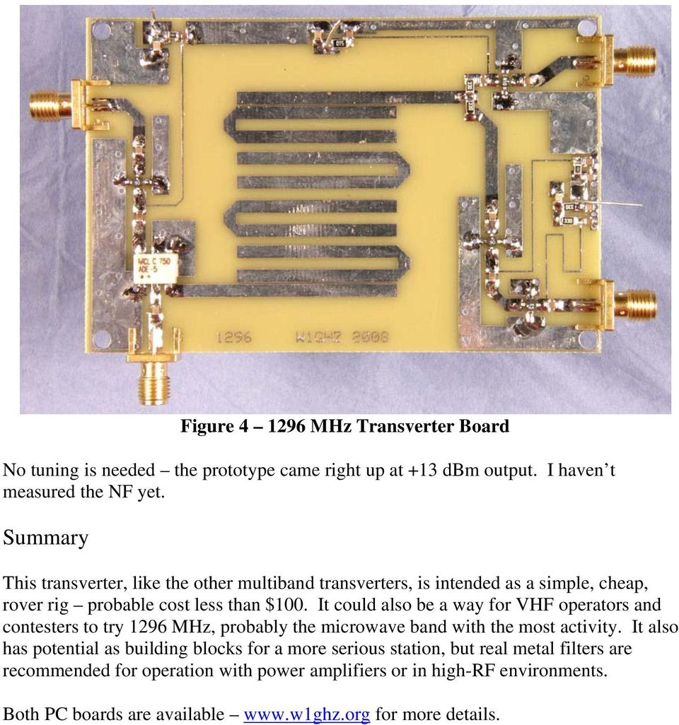 1296 MHz Transverter Right Side Up Simple and Cheap - PDF