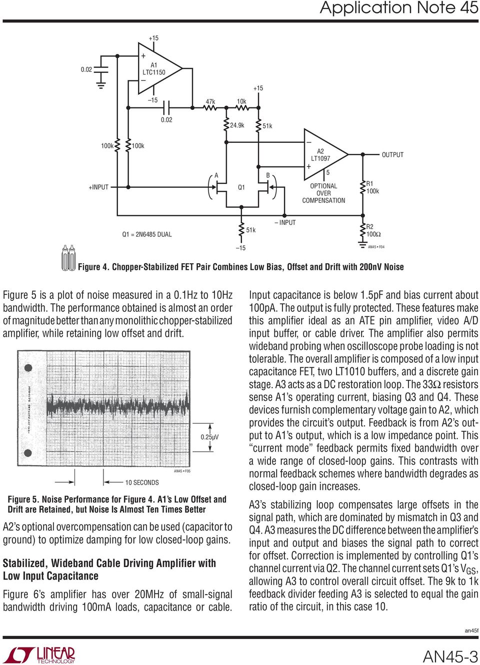 Application Note 45 June Measurement And Control Circuit Collection Lt1006 Precision Single Supply Op Amp Linear Technology The Performance Obtained Is Almost An Order Of Magnitude Better Than Any Monolithic Chopper Stabilized