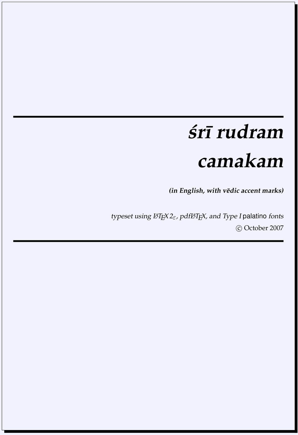 camakam (in English, with vēdic accent marks) - PDF