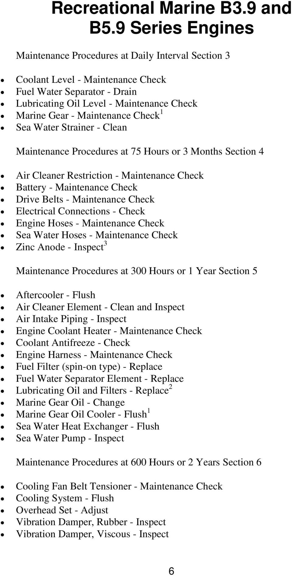 RECOMMENDED MAINTENANCE SCHEDULE - PDF