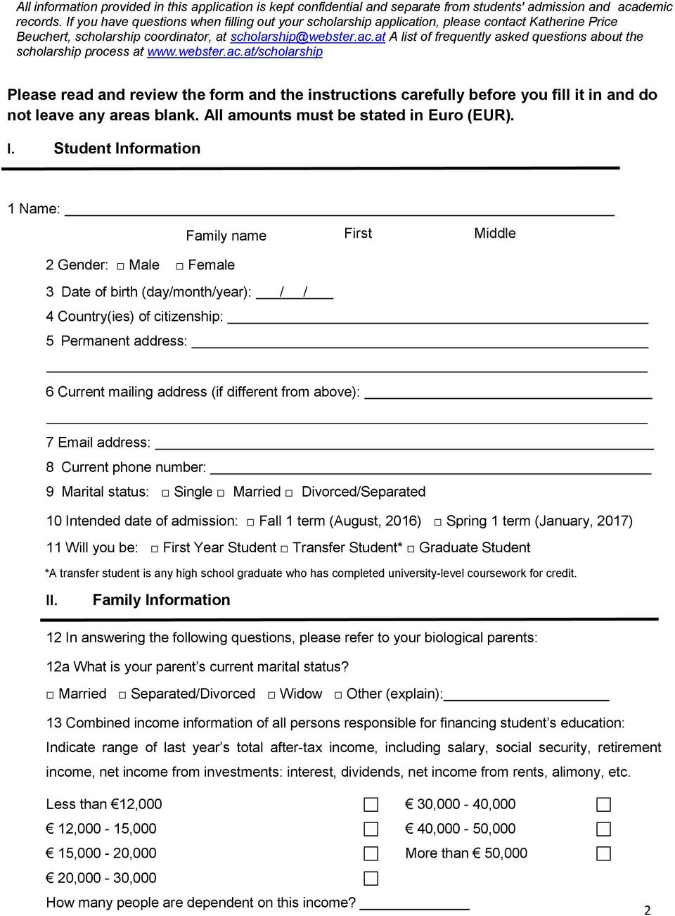 Scholarship Application 2016/ PDF