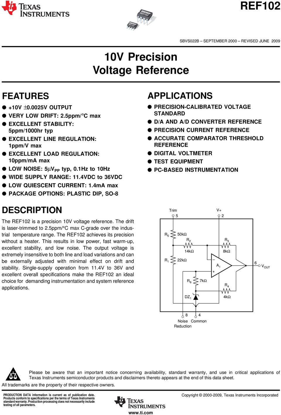10v Precision Voltage Reference Pdf Gain 2 Of Amplifier Circuit Ina105 Amplifiercircuit Vdc To 3vdc Low Quiescent Current 1