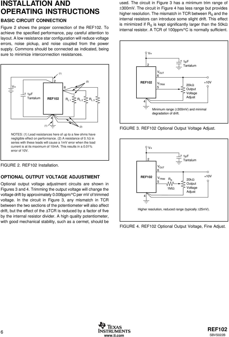 10v Precision Voltage Reference Pdf Gain 2 Of Amplifier Circuit Ina105 Amplifiercircuit Commons Should Be Connected As Indicated Being Sure To Minimize Interconnection Resistances Used