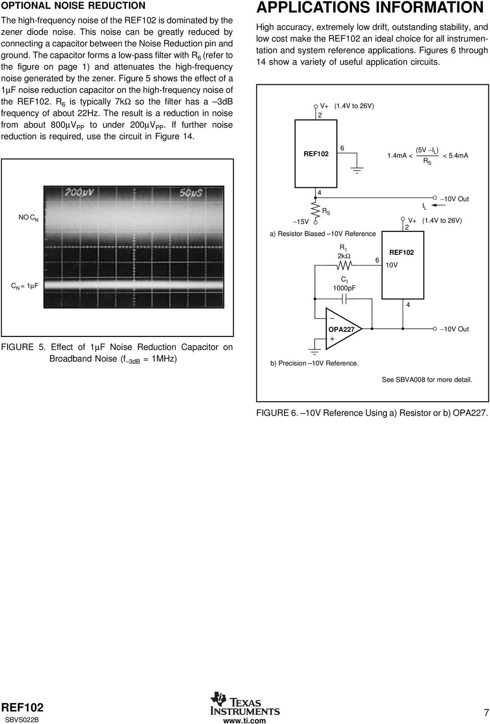10v Precision Voltage Reference Pdf Gain 2 Of Amplifier Circuit Ina105 Amplifiercircuit The Capacitor Forms A Low Pass Filter With R Refer To Figure On