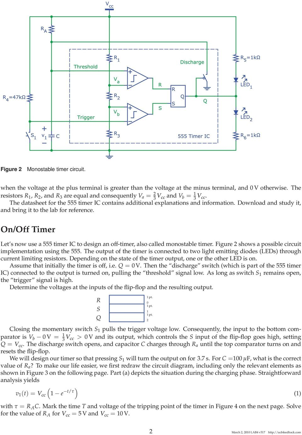 The 555 Timer Ic Uc Berkeley Eecs Department 40 42 100 Lab Pulse Position Modulator Circuit 555circuit Diagram Download And Study It Bring To For Reference On 3 Figure Partial