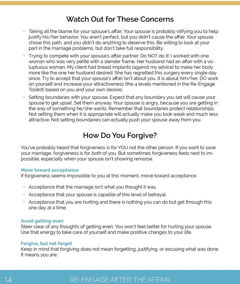 Re-Engage After the Affair - PDF