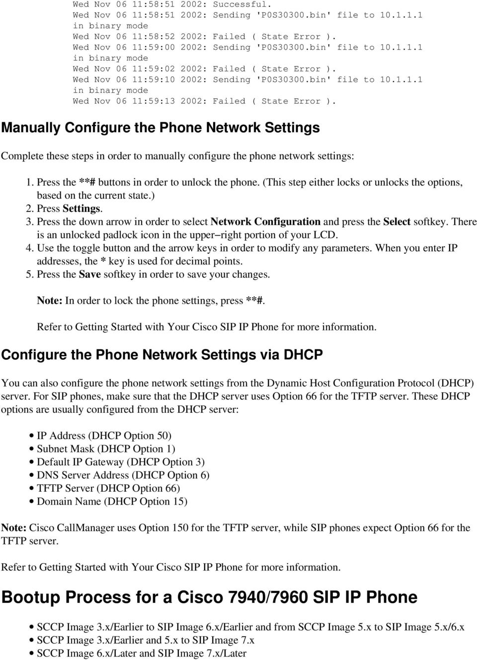 Converting a Cisco 7940/7960 SCCP Phone to a SIP Phone and the