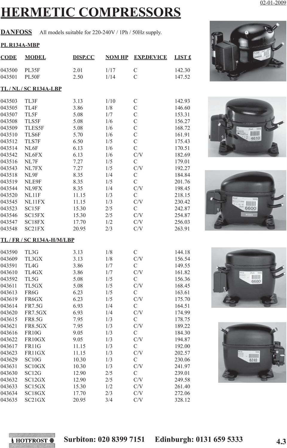 Danfoss Fr8 5g Compressor Wiring Diagram Trusted Diagrams Hermetic Compressors And Spares Pdf