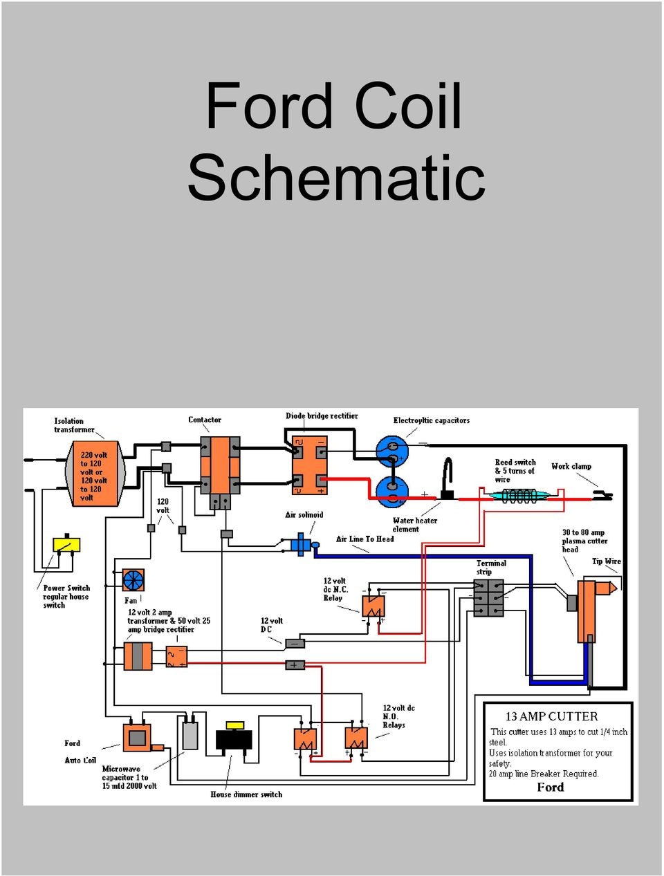 How I Made My Own Plasma Cutter From Junk Pdf 110 Volt Wire Relay Diagram 11 Ford Coil Schematic